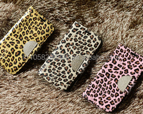 NIZWELL Leopard Diary Wallet Phone Case for Apple iPad Air Enamel Leopard Pattern Handmade Fashion Item Cubic Holder