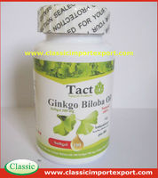 Dietary Supplements Ginkgo Biloba Softgel Private Label ( Support memory brain function)