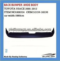 For toyota hiace spare parts hiace body kits back bumper for #000324 Hiace 200.van bus commuter