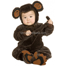 2016 best gift for Baby crawling clothes dark brown monkey baby costume