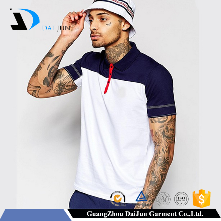 Daijun oem new design 100% cotton dry fit men cut sew polo shirts