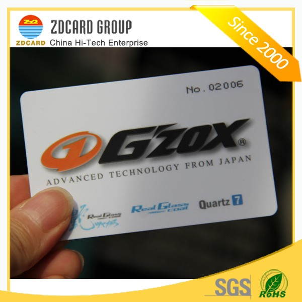 Cheap Hard PVC Plastic Printing Name Card