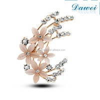 Classic ladies flower opal brooch broches