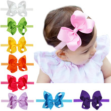 12 Colors Grosgrain Ribbon Hair Bows with Clip Boutique Bow for Children ,Baby Hairbow