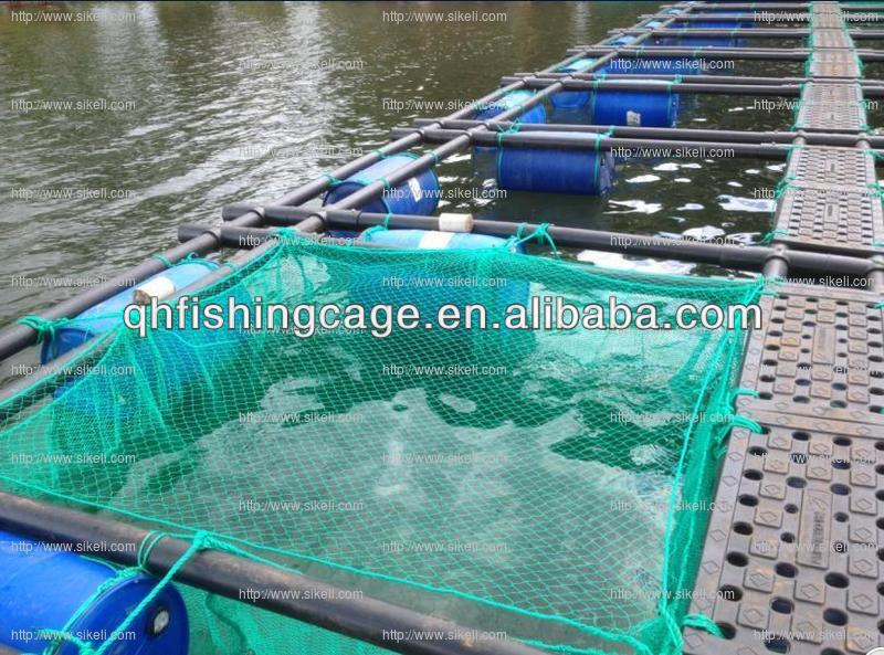 Africa high temperature resistant floating fishing cage PE net