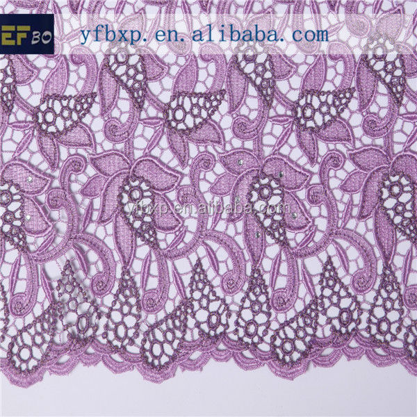 Export high quality two-tone flower african guipure lace fabric african organza lace fabric wholesale