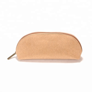 High quality eco-friendly cork make up bag waterproof cork wash bag lightweight cork cosmetic bag