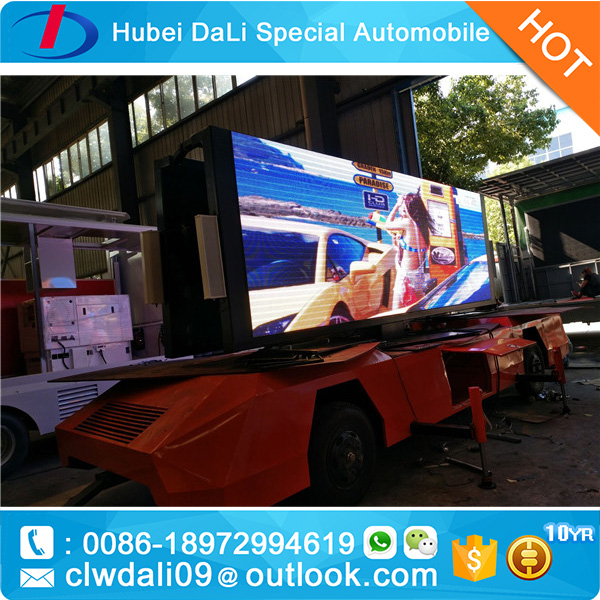 new inventions led truck trailer mounted display/screen tv