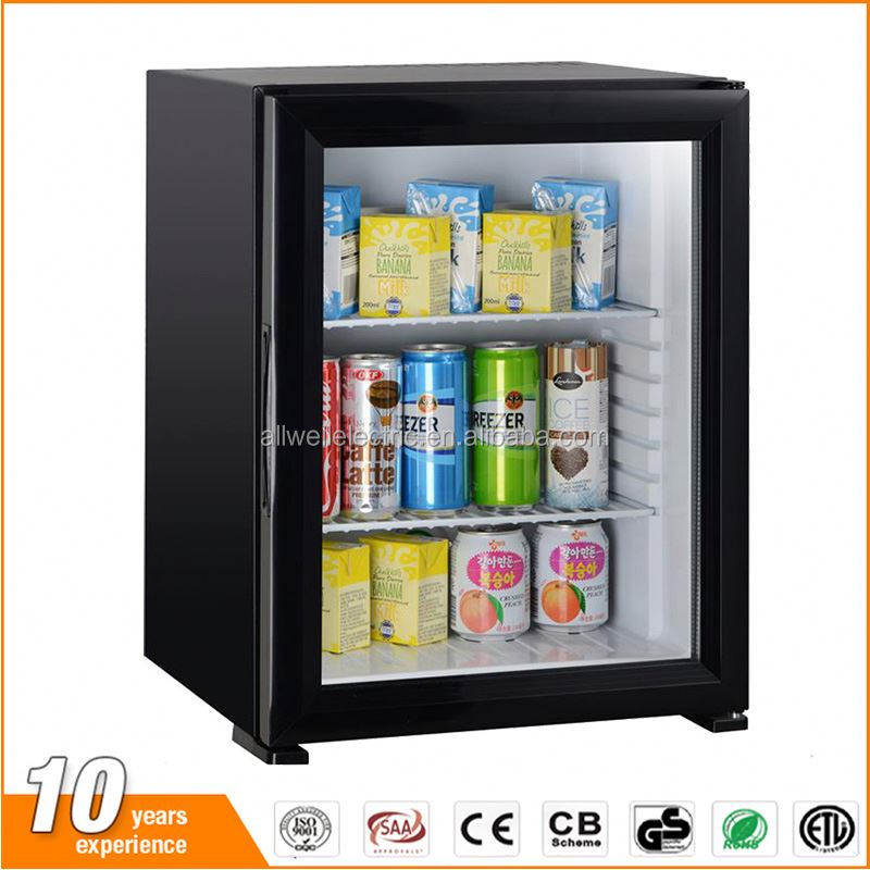 Cheap wholesale new glass door no freon mini refrigerator for hotel
