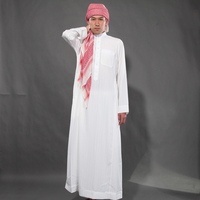 Arabic thobe jubba for men long sleeve daffah thobe muslim Qatar Style Robes thawb Jilbab wholesale
