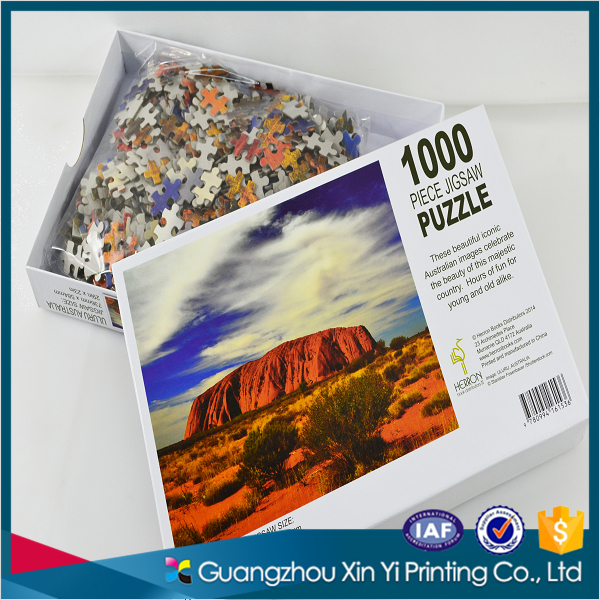 Hot selling cheap guangzhou printing paper jigsaw puzzle