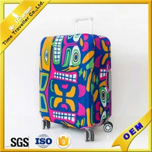 color printing spandex personalised suitcase covers
