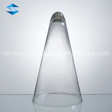 glass cone shaped tealight candle holder flower vase