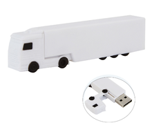 Hot Sale Creative White Truck Shape Usb Flash Drives with Customized Logo for promotion