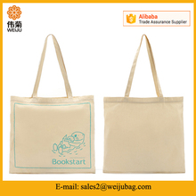 Promotional light weight cotton tote bag with custom printing