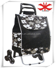 Vegetable foldable shopping trolley bag with climbing wheels / Stair climbing wheel of shopping trolley bag
