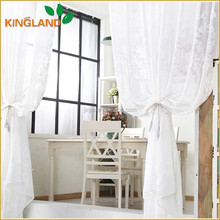 white light sheer 100% polyester embroidery macrame curtain fabrics for curtains