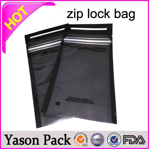 Yason plastic bag for cookie shinning silver red ziplock tear notches pouches ziplock bag for underwear package