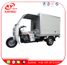 KAVAKI Motor Air Cooled Closed Cabin Cargo Tricycle Cargo Tricycle With Cabin