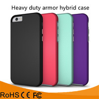 Alibaba express TPU PC combo anti-slip heavy duty armor hybrid case for iphone 6 6S