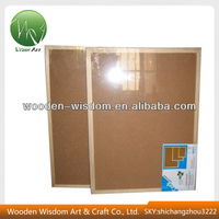 Wooden Frame Cork Bulletin Board