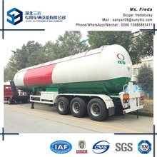 30T three axles 12 wheels LPG gas tank semi trailer