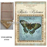 latest butterfly design linen paintings