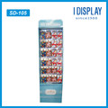 Retail Store Cardboard Hooks Display Rack For Gift Card