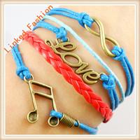 China handmade leather bracelet,infinity bracelet supplies