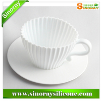 Kitchen tools silicone teacup cupcake molds