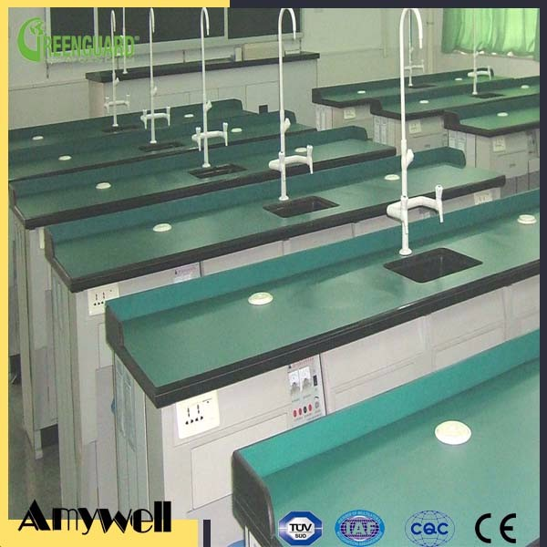 Amywell matte surface fireproof compact hpl chemical resistant bench laboratory