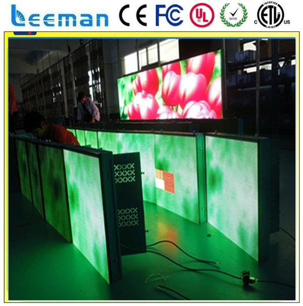 full color tube chip color and video graphics display function led mobile truck display die-casting aluminum stage led