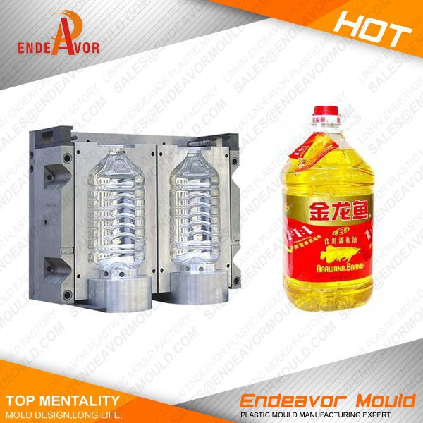 Factory directly sales quality assurance design and processing manufacturing plastic motor oil bottle mould