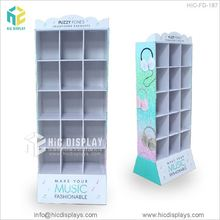 Custom printing electric battery pdq display rack, cardboard electronics showroom display