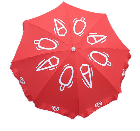 Advertising parasol ,45 inch polyester fabric 28/32mm Beach umbrella