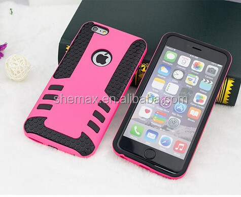 Ultra Protective Shell/case for Apple Iphone 6,Rocket design Super Pc and Silica Gel 2 in 1 Carrying Case for Apple Iphone 6