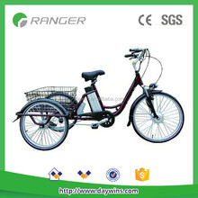 350W 48V 10AH 3 wheel e-bike with Pedals/ throttle bar
