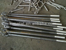 forged galvanized round pole anchor