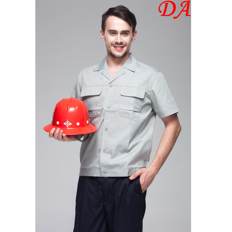 Athletic Summer Short Sleeves Worker Shirt Construction Uniforms