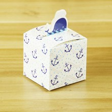 little blue whale design baby shower party favors paper gift box