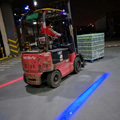 18W12V 80V Forklift Red Safety Zone Line Light Combined With blue forklift spotlight