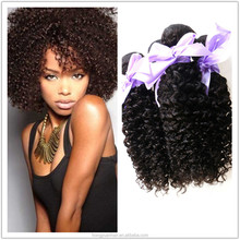 China Based 100% Virgin Mongolian Kinky Curly Hair Weave