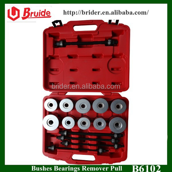 Auto Repair Tools 27pc Universal Press & Pull Sleeve Kit Bush Bearing Removal Insertion Tool Set