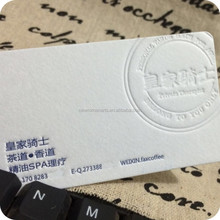 Business card printing,high quality paper printing two sides 300 gsm white cotton paper