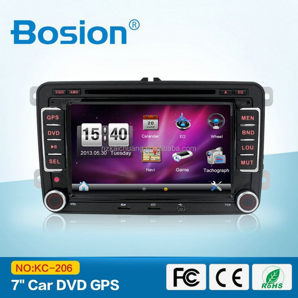 VW Golf 6 car DVD System GPS Navigation AUX IN Radio with TV and Radio Antenna