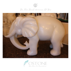 Factory Price Carving Pure White Marble Onyx Elephant Statues