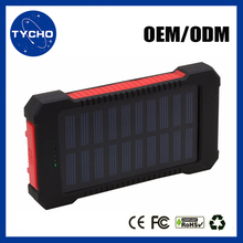 Generic Power Bank For Mobile Phone Solar Led Power Bank 8000mAh 10000mAh Water-proof Power Bank