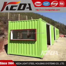 low cost colorful prefab container home ISO container homes kit