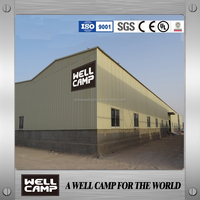 With 1m concrete wall strong steel structure for warehouse