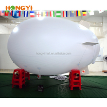 3m white remote control airships PVC inflatable blimp Advertising Spaceship model Floating helium balloon Customizable LOGO